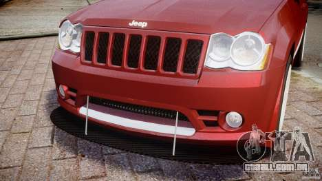 Jeep Grand Cherokee para GTA 4 vista superior