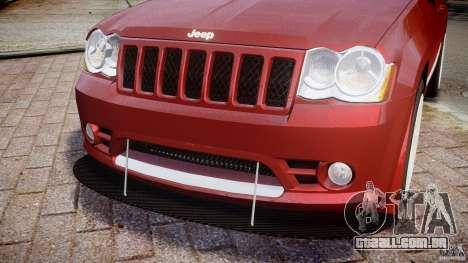 Jeep Grand Cherokee para GTA 4 vista superior
