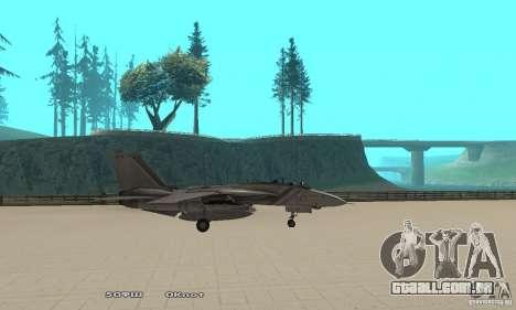 F14W Super Weirdest Tomcat Skin 1 para GTA San Andreas esquerda vista