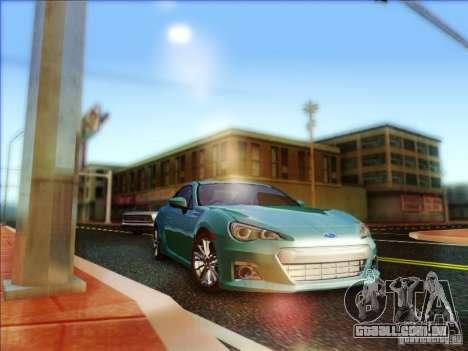 Subaru BRZ S 2012 para GTA San Andreas vista traseira