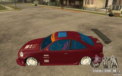 Honda Civic 1998 Tuned para GTA San Andreas esquerda vista