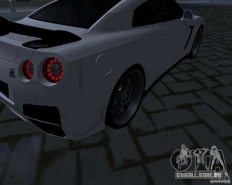 Nissan GTR-35 Spec-V para vista lateral GTA San Andreas