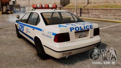 Nova patrulha da polícia para GTA 4 traseira esquerda vista