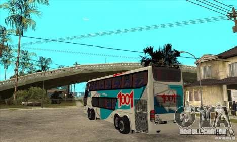 Marcopolo Paradiso 1800 G6 8x2 para GTA San Andreas traseira esquerda vista