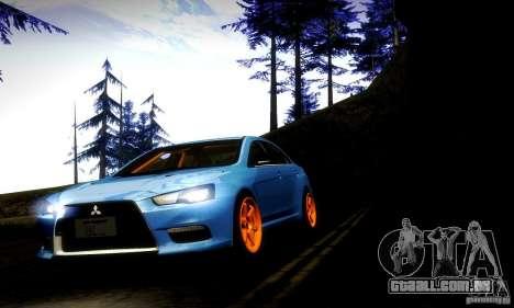 Mitsubishi Lancer Evo X Tuned para GTA San Andreas vista traseira