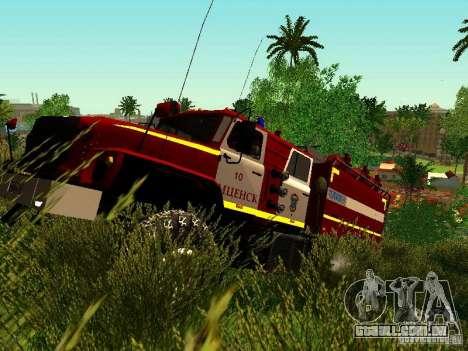 Fogo de Ural 5557-40 para GTA San Andreas esquerda vista