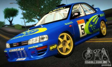 Subaru Impreza 1995 World Rally ChampionShip para GTA San Andreas esquerda vista