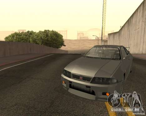 Nissan Skyline GT-R R-33 para GTA San Andreas vista inferior