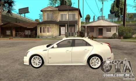 Cadillac CTS-V 2009 v2.0 para GTA San Andreas esquerda vista