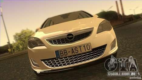 Opel Astra 2010 para GTA San Andreas vista superior