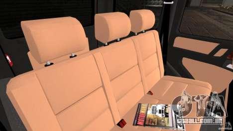 Mercedes-Benz G55 AMG para GTA 4 vista interior