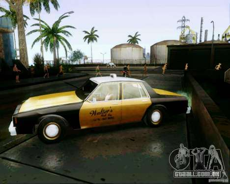 Chevrolet Impala 1986 Taxi Cab para GTA San Andreas traseira esquerda vista