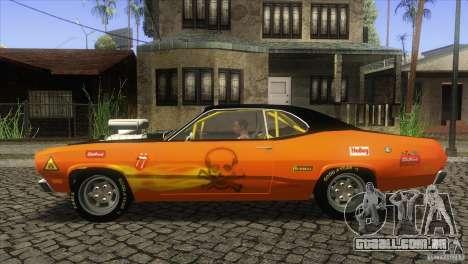 Plymouth Duster 440 para GTA San Andreas esquerda vista