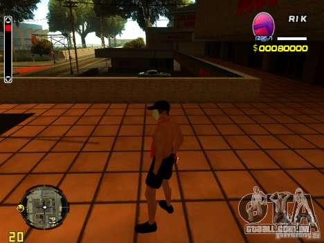 Homem de pele praia para GTA San Andreas terceira tela