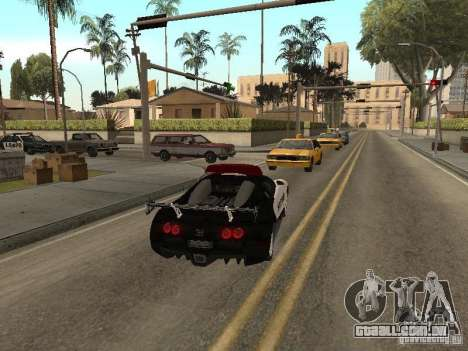 Bugatti Veyron Police para GTA San Andreas vista direita