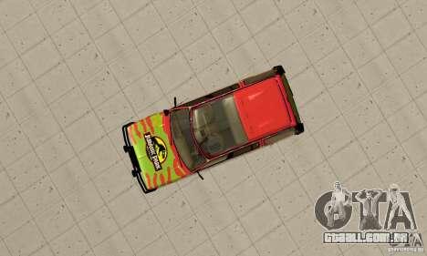 Ford Explorer (Jurassic Park) para GTA San Andreas vista direita