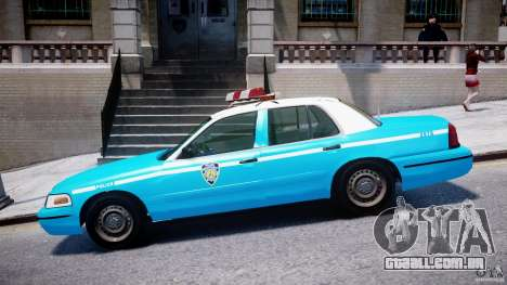Ford Crown Victoria Classic Blue NYPD Scheme para GTA 4