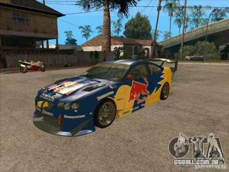 Pontiac GTO Red Bull para GTA San Andreas