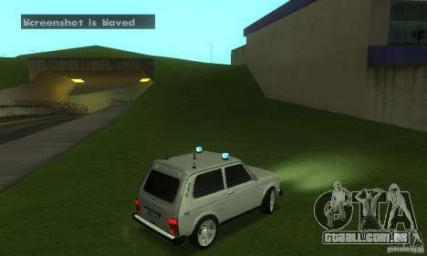 VAZ 21213 NIVA FBI para GTA San Andreas vista direita