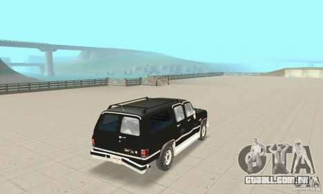 Chevrolet Suburban FBI 1986 para GTA San Andreas vista superior