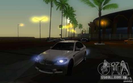 BMW M5 2012 para GTA San Andreas vista direita