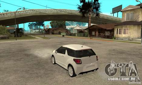 Citroen DS3 2010 para GTA San Andreas traseira esquerda vista