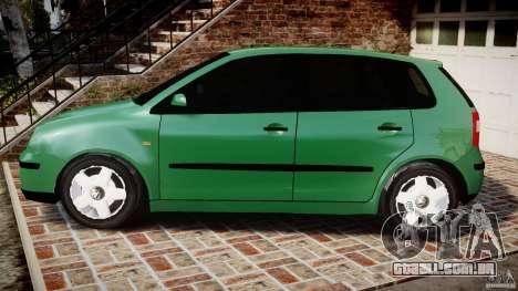 Volkswagen Polo 2.0 2005 para GTA 4 esquerda vista
