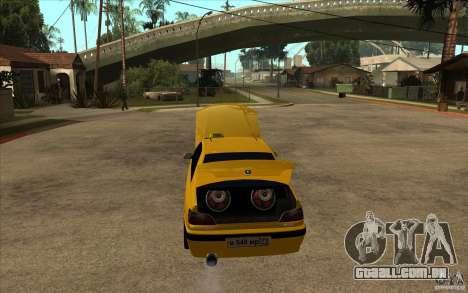 Peugeot 406 Taxi para GTA San Andreas vista interior