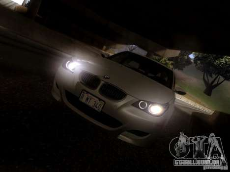 BMW M5 E60 2009 para vista lateral GTA San Andreas