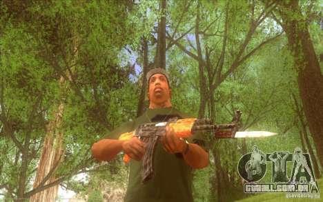 Kalashnikov HD para GTA San Andreas por diante tela