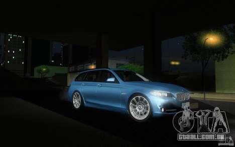 BMW F11 530d Touring para GTA San Andreas vista traseira