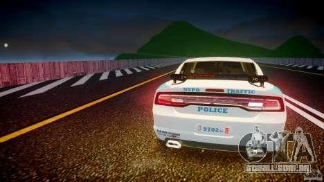 Dodge Charger NYPD 2012 [ELS] para GTA 4 motor
