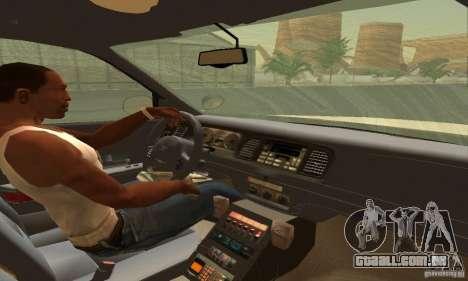 Ford Crown Victoria South Carolina Police para GTA San Andreas traseira esquerda vista