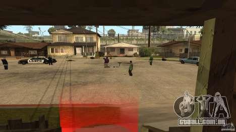 Na Grove Street foi atacado por Ballas para GTA San Andreas segunda tela