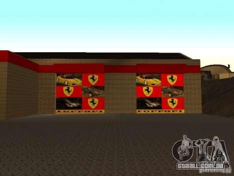 A garagem da Ferrari em Dorothy para GTA San Andreas segunda tela