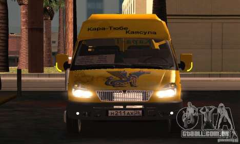 Gazela 2705 Minibus para GTA San Andreas vista interior