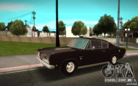 Plymouth Barracuda Formula S para GTA San Andreas traseira esquerda vista