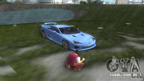 Lexus LFA para GTA Vice City vista traseira