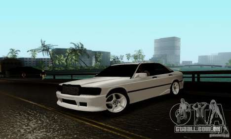 Mercedes-Benz 190E para GTA San Andreas vista superior