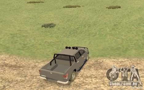 Toyota Tundra 4x4 para GTA San Andreas traseira esquerda vista