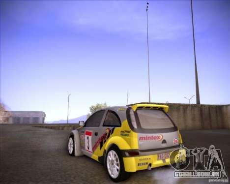 Opel Corsa Super 1600 para GTA San Andreas vista traseira