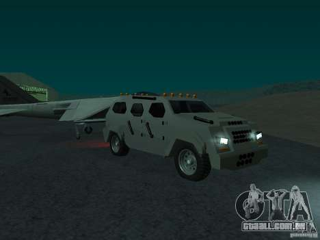 FBI Truck from Fast Five para GTA San Andreas vista direita