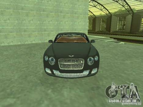 Bentley Continental GT 2010 V1.0 para GTA San Andreas vista traseira