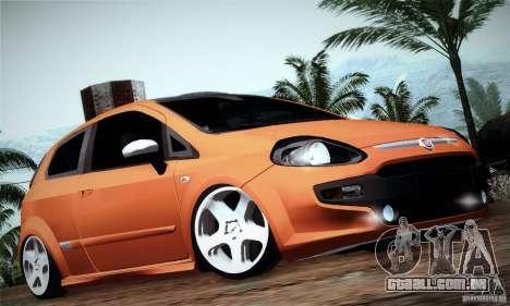 Fiat Punto Evo 2010 Edit para GTA San Andreas traseira esquerda vista