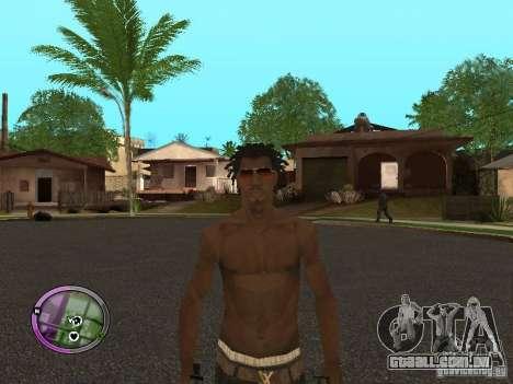 Afro-American Boy para GTA San Andreas quinto tela