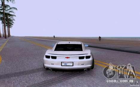 Chevrolet Camaro Super Sport 2012 para GTA San Andreas vista direita