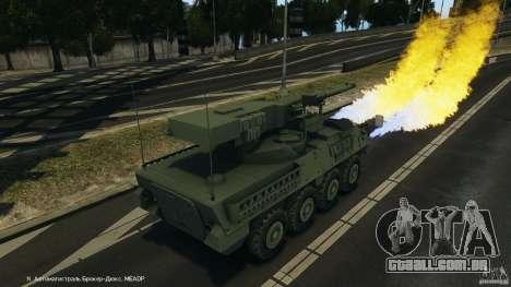 Stryker M1128 Mobile Gun System v1.0 para GTA 4 vista inferior