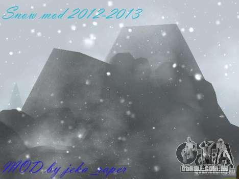 Snow MOD 2012-2013 para GTA San Andreas