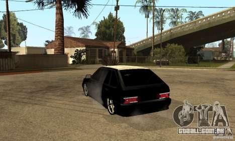 Lada ВАЗ 2114 LT para GTA San Andreas traseira esquerda vista