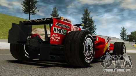 Ferrari F2008 para GTA 4 traseira esquerda vista